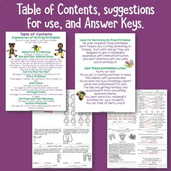 Mardi Gras Activities for Literacy and Math
