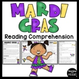 Mardi Gras Reading Comprehension Worksheet Fat Tuesday Informational Text
