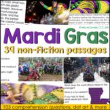 Mardi Gras Reading Comprehension & More    Non-fiction Pas