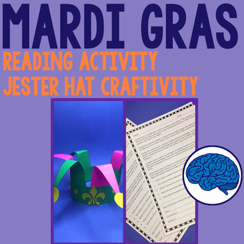 Mardi Gras Reading & Jester Hat Craftivity