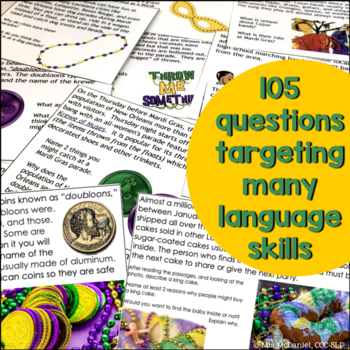 Mardi Gras Reading Comprehension & More! {with non-fiction passages & questions}