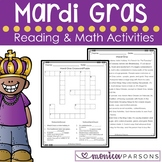 Mardi Gras Reading and Math Activities