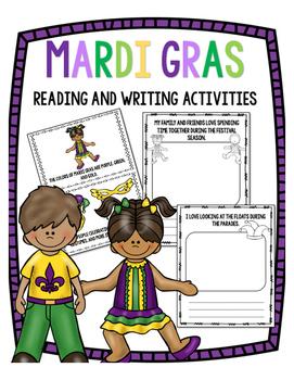 Mardi Gras Reading and Writing Activities