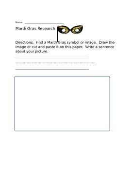Mardi Gras Research Homework