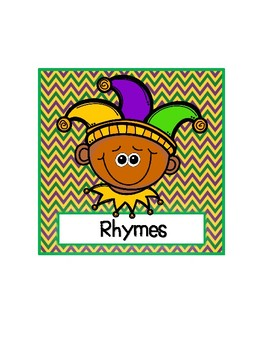 Mardi Gras Rhyme Packet