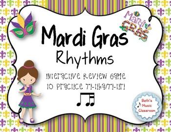 Mardi Gras Rhythms! Interactive Rhythm Practice Game - Ti-tika