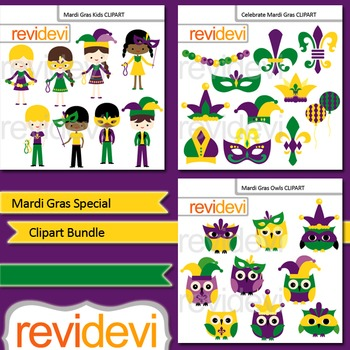 Mardi Gras Special Clip Art (3 packs)