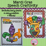 Mardi Gras Speech Therapy Crafts {use with any speech goal}