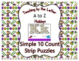 Mardi Gras ~ Teaching by the Letter Holiday Strip Number Puzzles