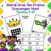 Mardi Gras Ten Frame Scavenger Hunt