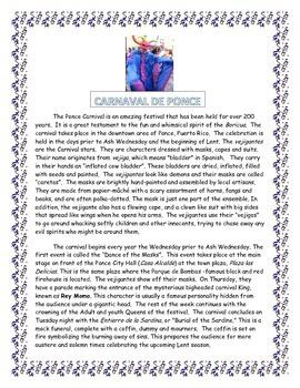 Carnaval en Ponce- ENGLISH- Puerto Rico-  SUB PLAN