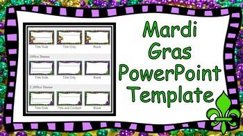 Mardi Gras Themed PowerPoint Template