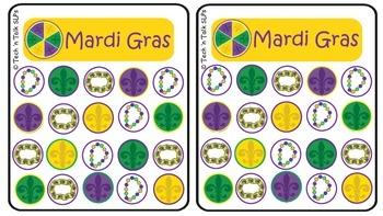 Mardi Gras Token Boards