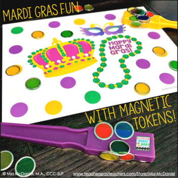 Open Ended Mardi Gras Token Boards {for magnetic wands & tokens}