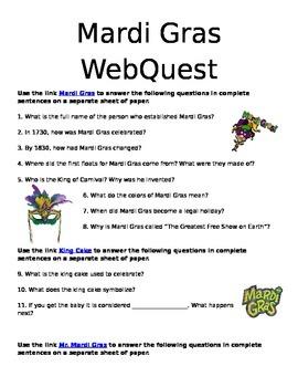 Mardi Gras Web-Quest