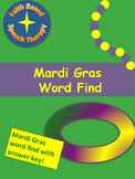 Mardi Gras Word Find * No Prep *