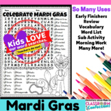 Mardi Gras Word Search