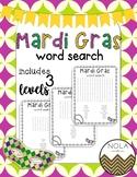 Mardi Gras Word Search- Dollar Deal, No Prep!