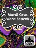Mardi Gras Word Search Freebie!