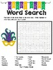 Mardi Gras Word Search Freebie!