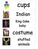 Mardi Gras Word Wall Cards
