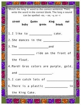 Mardi Gras Word Work