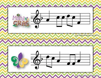 Mardi Gras Write-the-Room, Melodic Scavenger Hunt - Practice Do