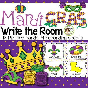 Mardi Gras Write the Room (in color and black/white)
