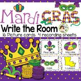 Mardi Gras Write the Room (in color and black/white)