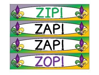 Mardi Gras ZAP! Noun, Verb, Adjective