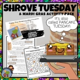 Mardi Gras and Shrove Tuesday Presentation and Activity Pack