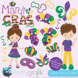 Mardi Gras clipart commercial use, vector graphics, digital - CL640