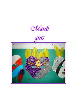 Mardi gras * Masks For French Class