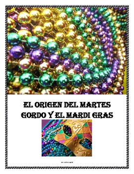 Spanish Reading Comprehension Activity for Mardis Gras