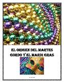 Spanish Reading Comprehension Activity for Mardis Gras