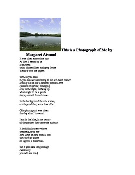 """Margaret Atwood's """"This is a Photograph of Me"""""""