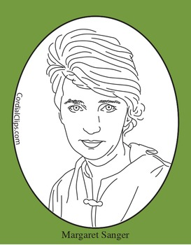 Margaret Sanger Clip Art, Coloring Page or Mini Poster