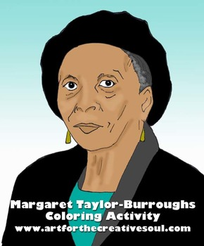 Margaret Taylor-Burroughs Coloring Activity