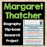 Margaret Thatcher Biography Research Project, Flip Book, Women's History Month