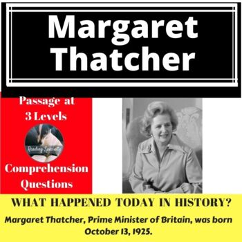 Margaret Thatcher, Differentiated Reading Passage, October 13