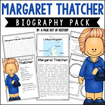Margaret Thatcher Biography Pack (Women's History)