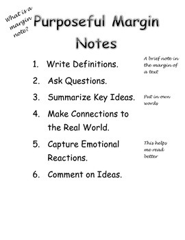 Margin Notes Poster