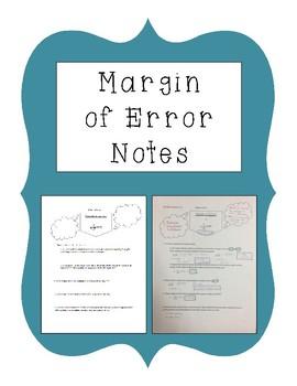 Margin of Error Notes
