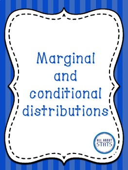 Marginal and conditional distributions