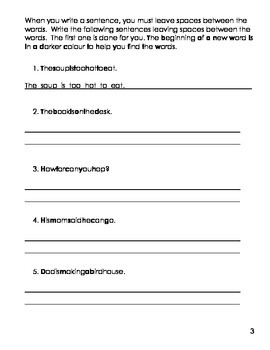 Margins and Spacing - Activity Sheets, Test, Answers