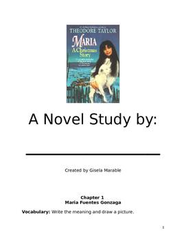 Maria A Christmas Story Novel Study