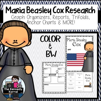 Maria Beasley Cox: Biography Research Bundle {Report, Trifold, & MORE!}
