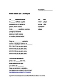 Maria Isabel song/cloze activity in Spanish
