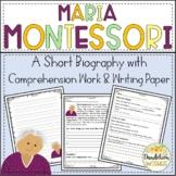 Maria Montessori Comprehension Work & Writing Paper