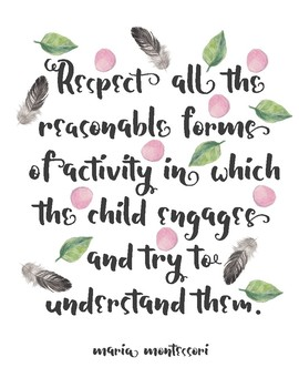Maria Montessori Quote Posters
